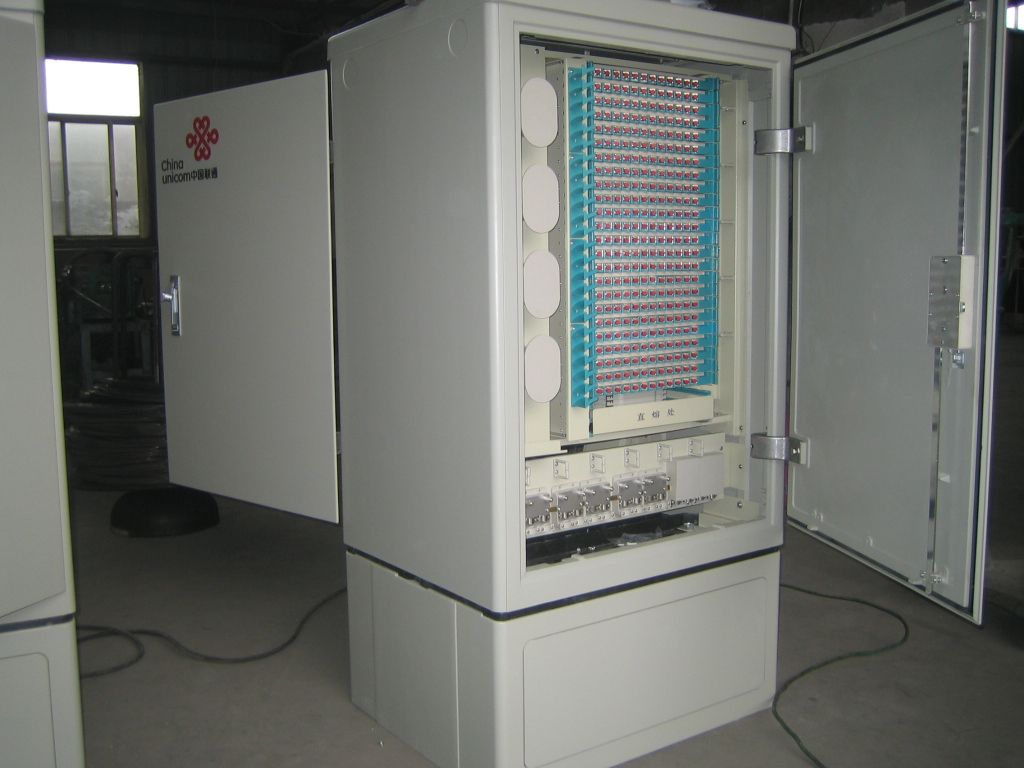 576 core Optical cable cross connection cabinet