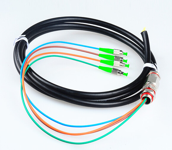 4 core FC/APC water proof pigtail cable