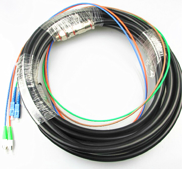 FC/APC SC/APC 2 core single mode water proof pigtail cable