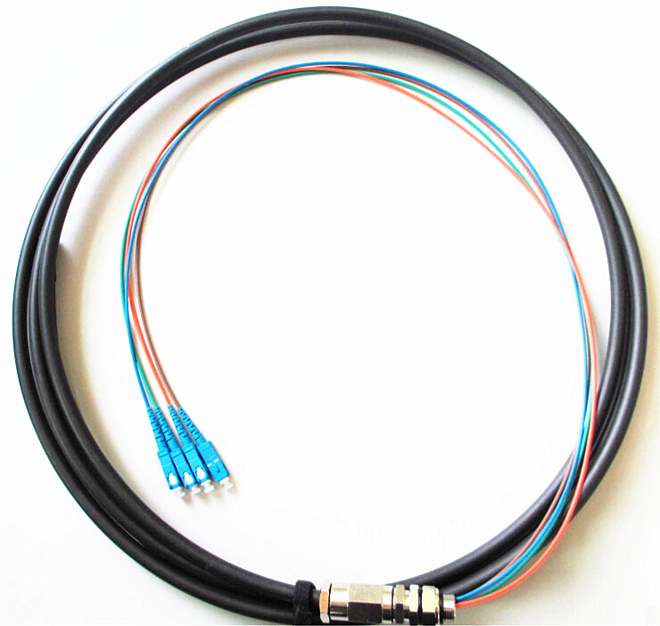 4 core sc/pc water proof pigtail cable