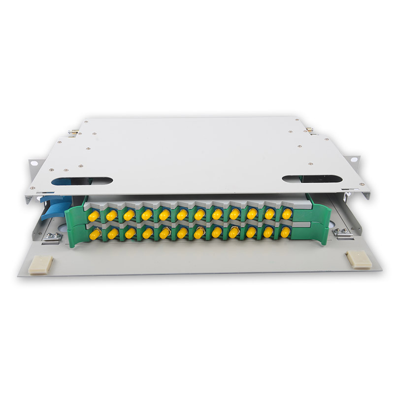 24 Core ST ODF  ODF distribution frame 24-core Rack Mount 2U type with ST/PC Adapter
