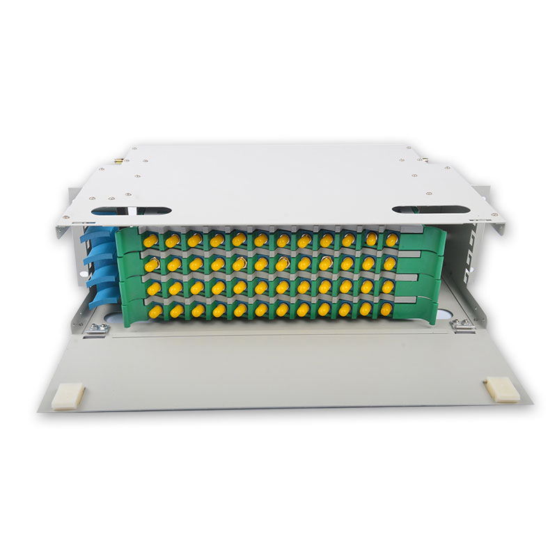 48 Core ST ODF  ODF distribution frame 48-core Rack Mount 1U type with ST/PC Adapter