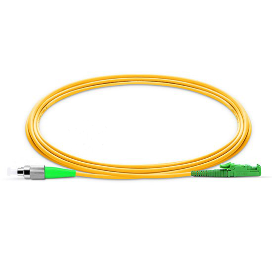 E2000-FA   Single mode Simplex E2000/APC-FC/APC fiber optic jumper