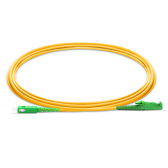 E2000-SA   Single mode Simplex E2000/APC-SC/APC fiber optic jumper