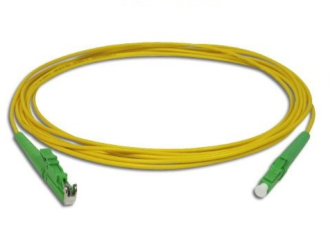 E2000-LA   Single mode Simplex E2000/APC-LC/APC fiber optic jumper